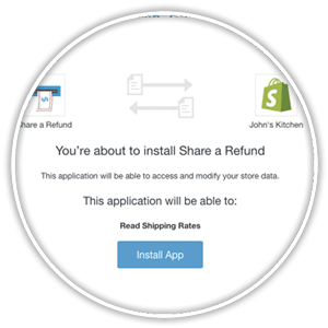shopify approve install