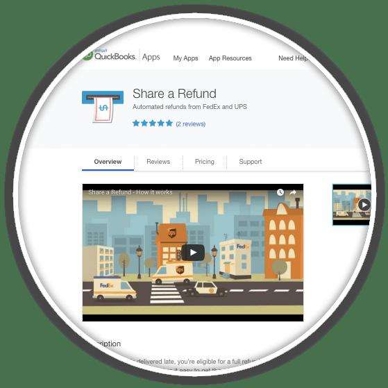 quickbooks online app card shipment auditing