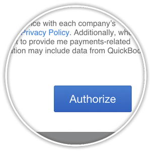 quickbooks online app authorization