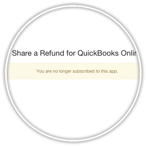 confirmation of disconnect app from quickbooks