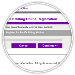 fedex online billing registration