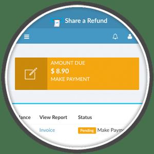 billing notifications status bar
